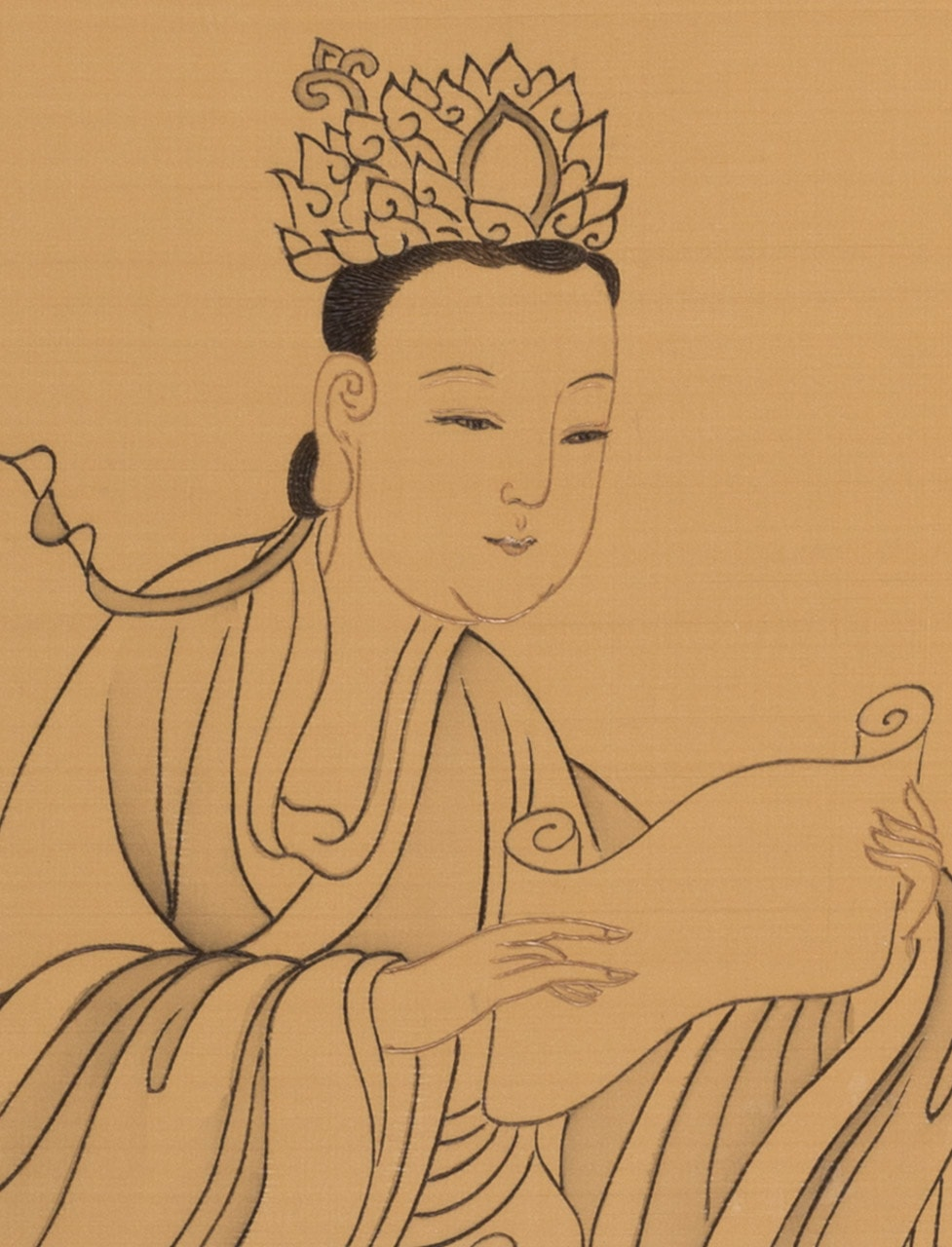 Chanting Sutras (detail)