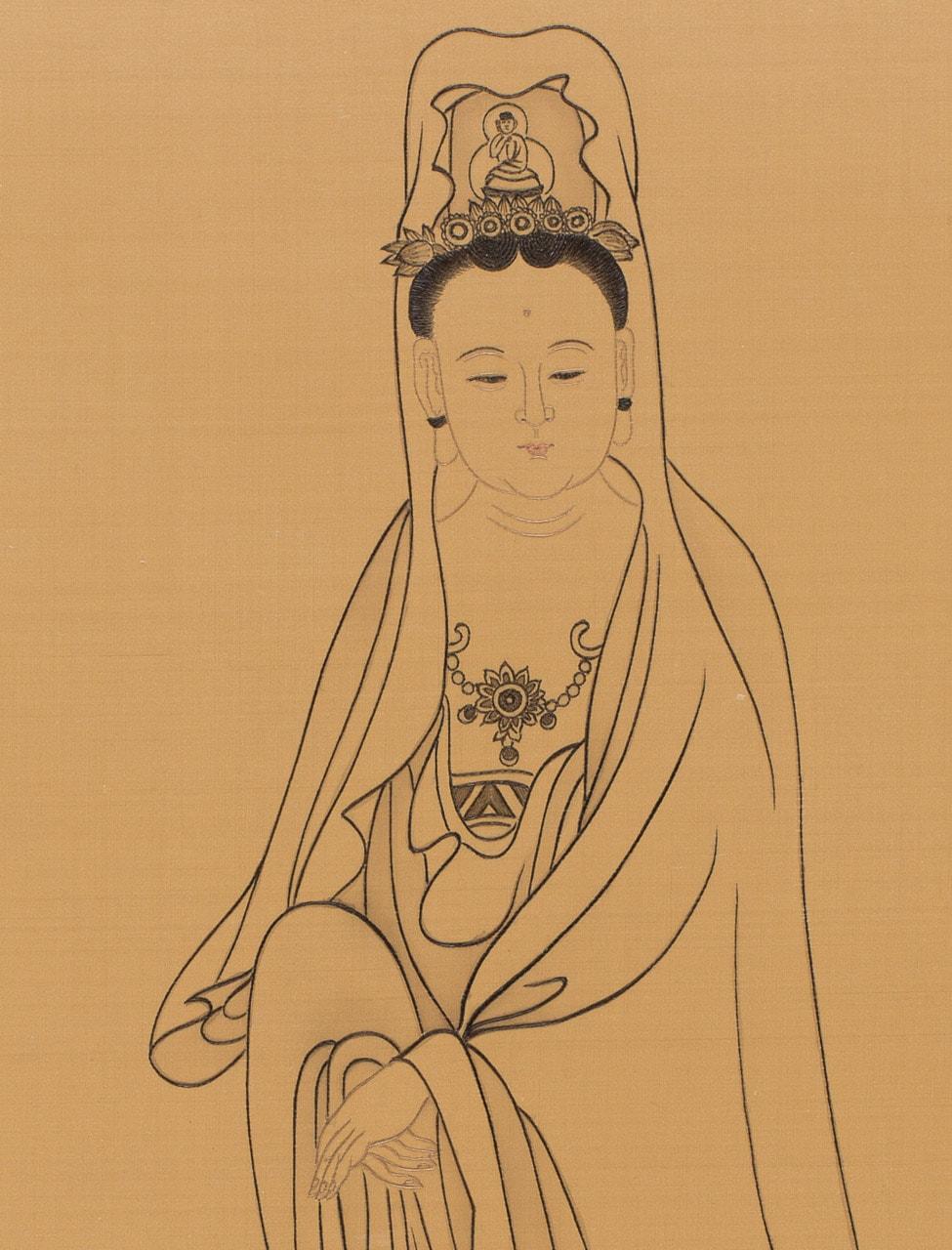 Contemplating a Bodhi Leaf (detail)
