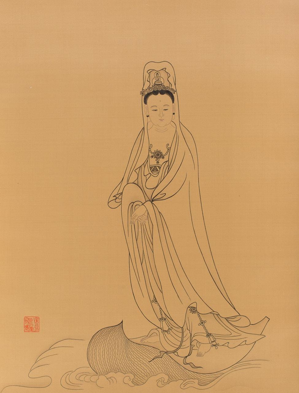 Contemplating a Bodhi Leaf
